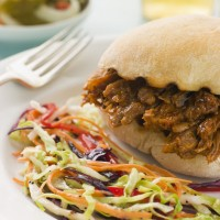 Pulled Pork Barbeque Sandwich
